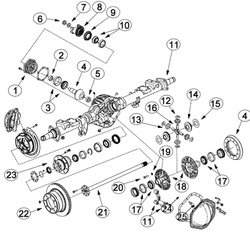 10 5 u0026quot  gm - diff gear kit