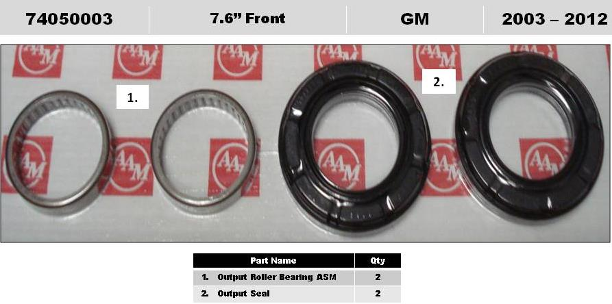 2006 Hummer H3 Front 7 6 Quot Ifs Diff Axle Output Shaft Seal Kit Gm 15286593 26053326 Sku
