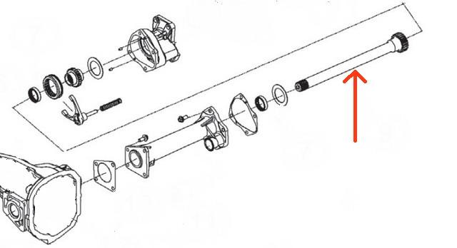 2006-2010 hummer h3 front 7 6 u0026quot  ifs differential awd intermediate axle shaft 12479254